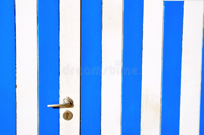 Wooden cabin at the beach. Portovenere, italy royalty free stock photo