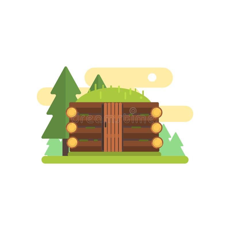 Wooden Cabin Illustration royalty free illustration