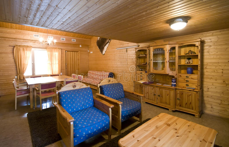 Wooden cabin interior royalty free stock image