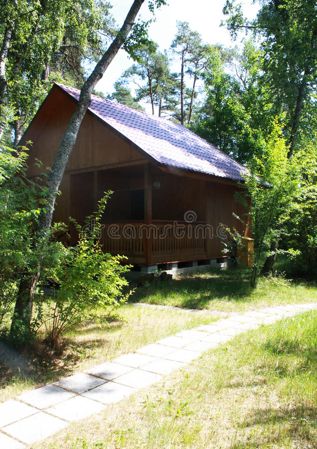 Wooden cabin royalty free stock photography