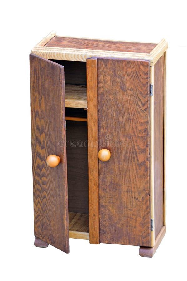 Wooden Cabinet an open door royalty free stock photos
