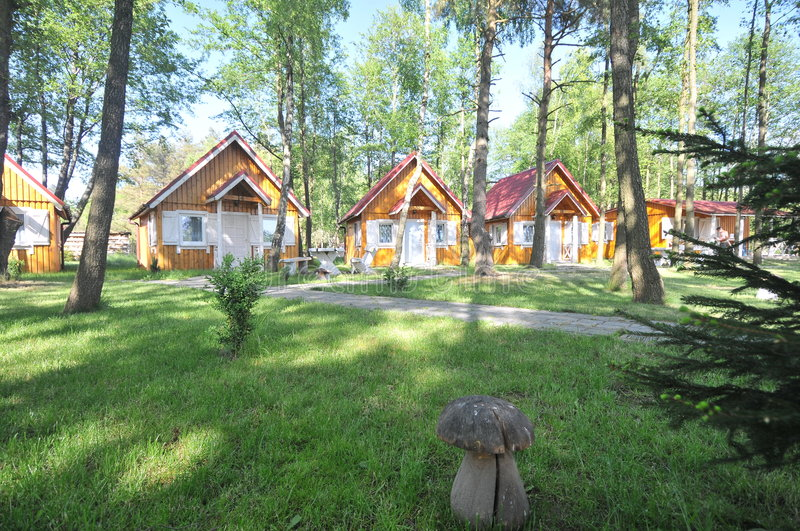 Download Wooden cabins stock photo. Image of outdoors, holidays - 5324038