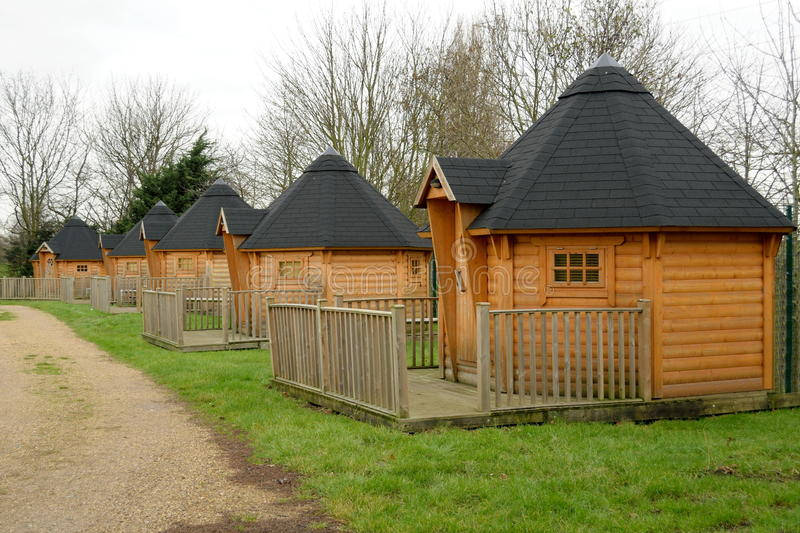 Wooden cabins royalty free stock images
