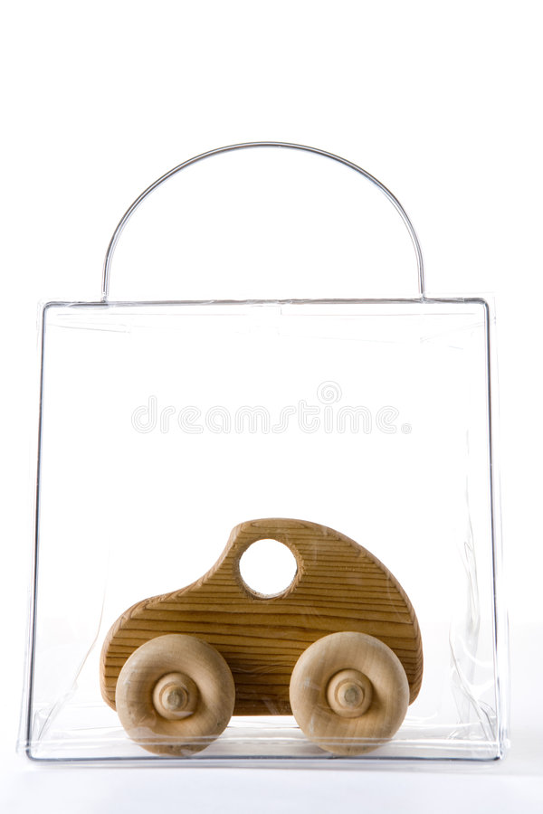 Free Wooden Car In A Bag Stock Photography - 7729342