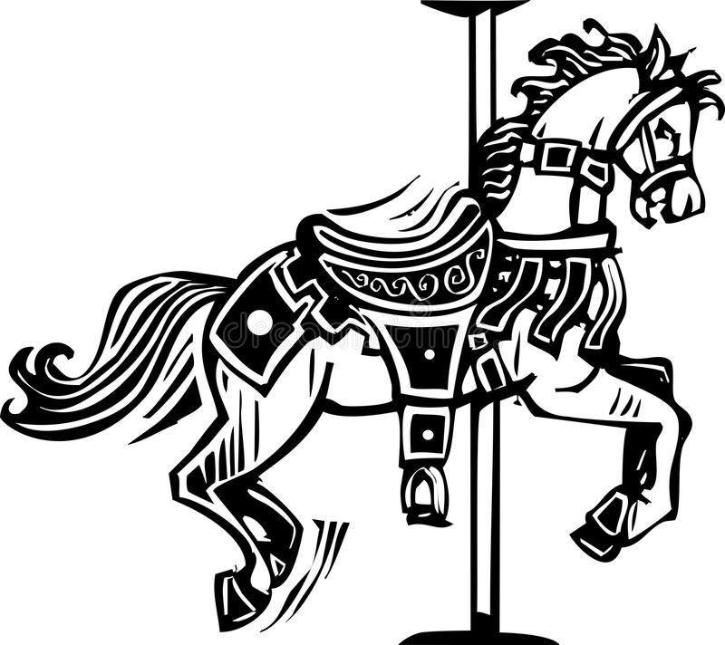 Free Wooden Carousel Horse Stock Photography - 40300472