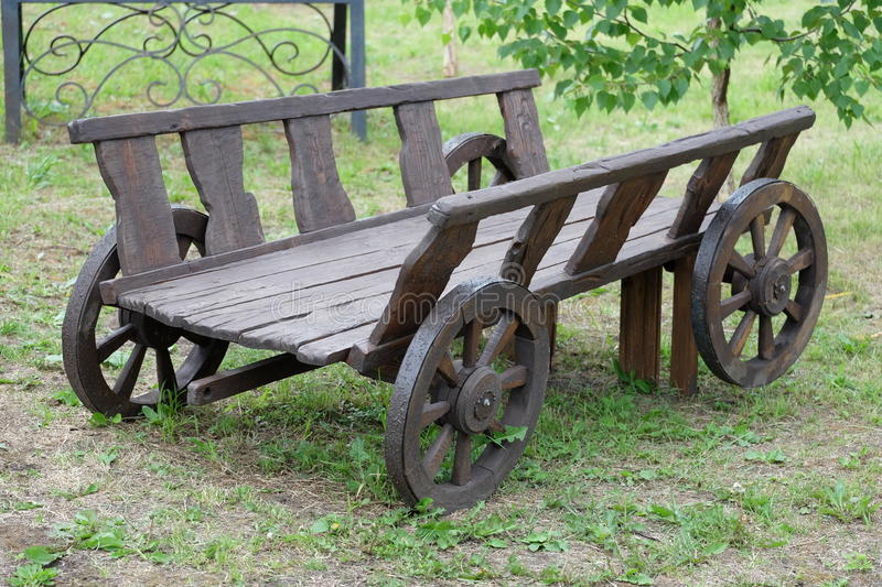 Wooden cart stock image