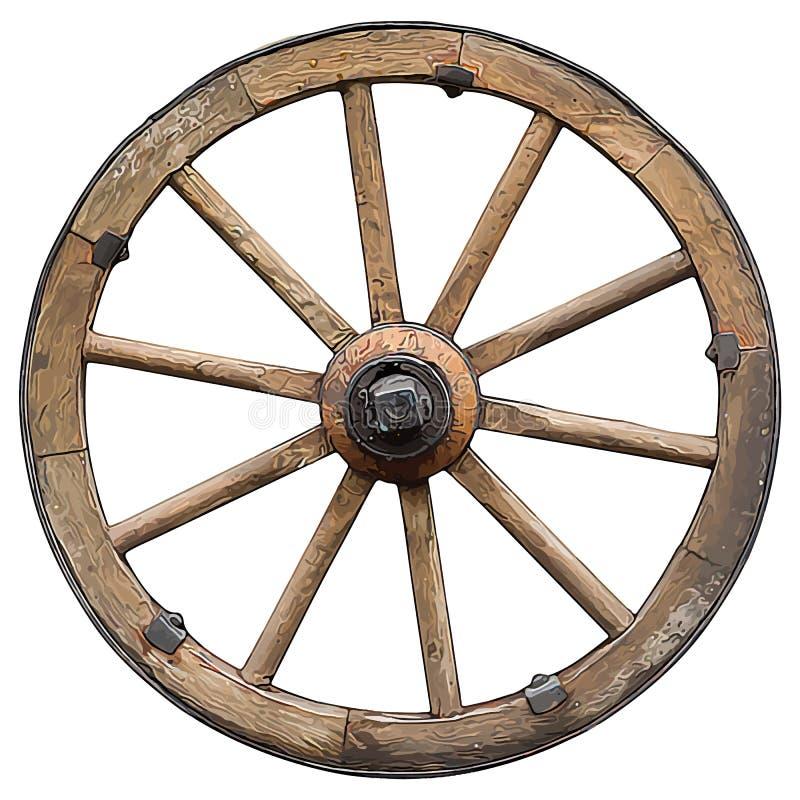 Free Wooden  Cartoon Style Wheel Isolated On White Background Stock Photos - 146877673