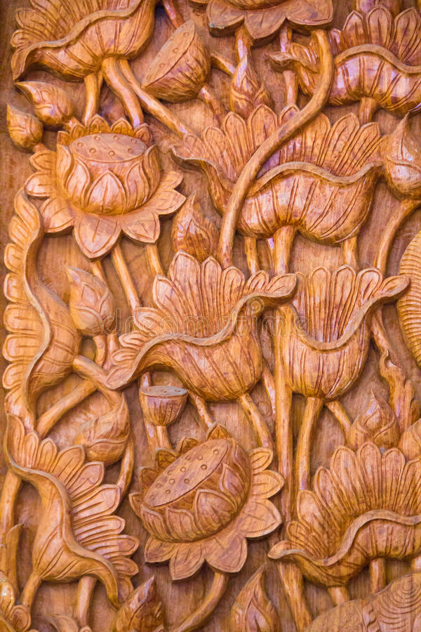 Wooden carved door stock photography