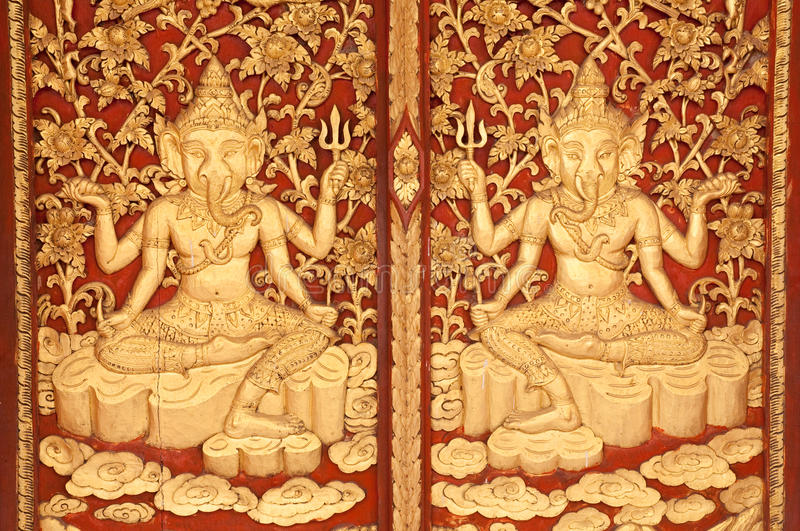 Download Wooden Carved Ganesh. Royalty Free Stock Photography - Image: 23405777