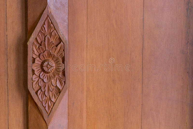 Wooden Carved Thai style stock image