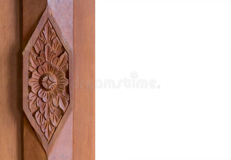 Wooden Carved Thai style royalty free stock photo