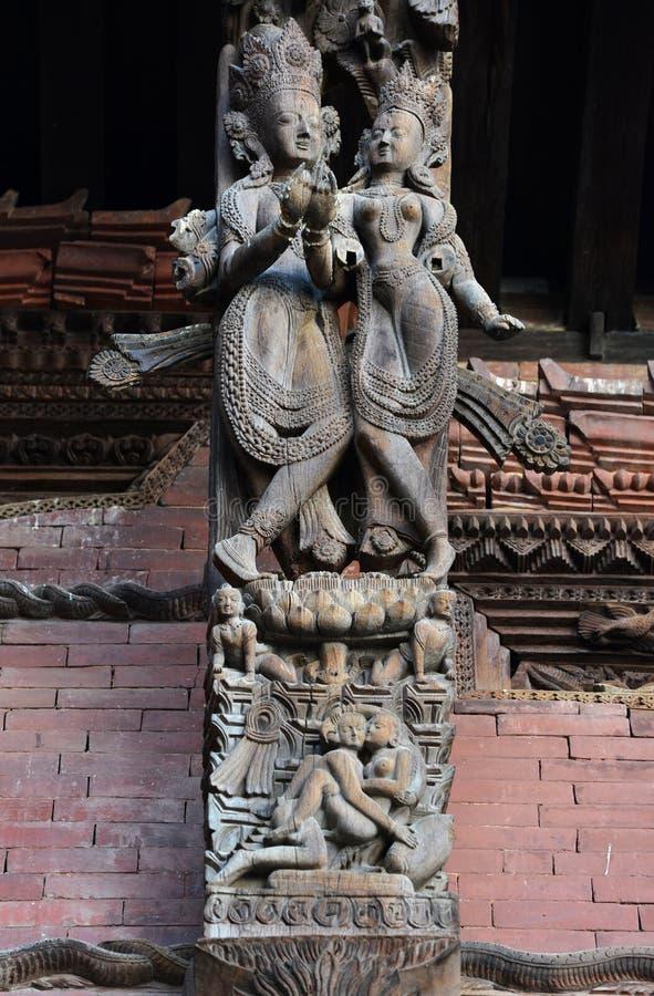 wooden carvings wooden carvings on a hindu temple in kathmandu nepal now destr