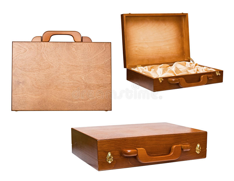 The wooden case stock photo