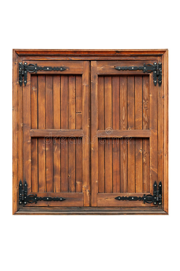 Free Wooden Casement Window With Shutters Closed Stock Image - 38572211