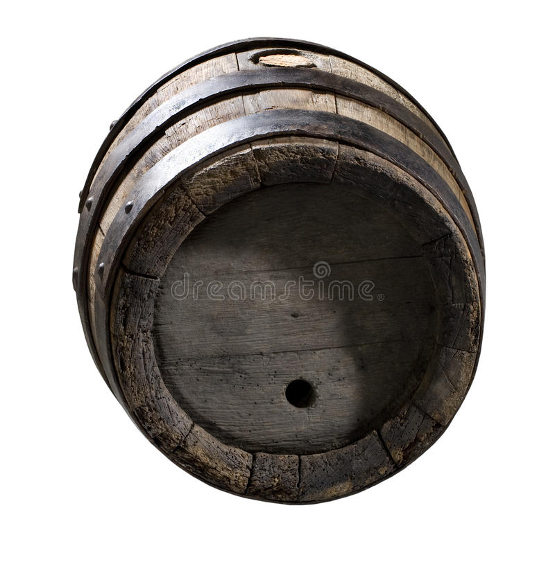 Download Wooden cask stock image. Image of full, isolated, mounting - 12411227