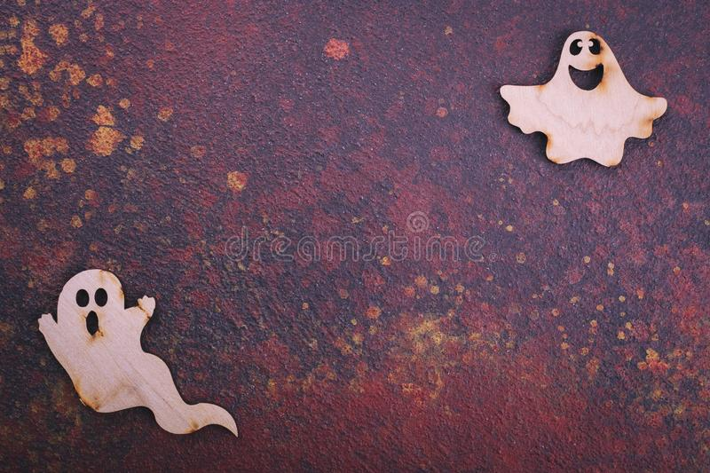 Wooden casts, space for text royalty free stock photography