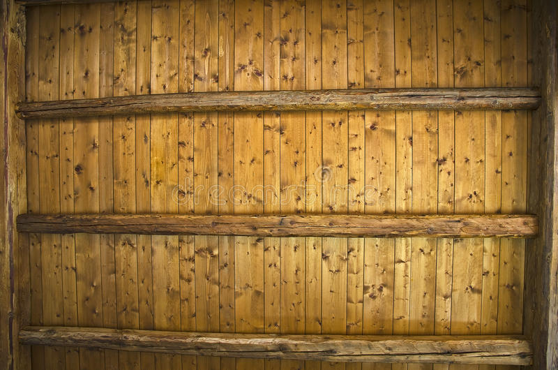 Wooden ceiling. stock photo