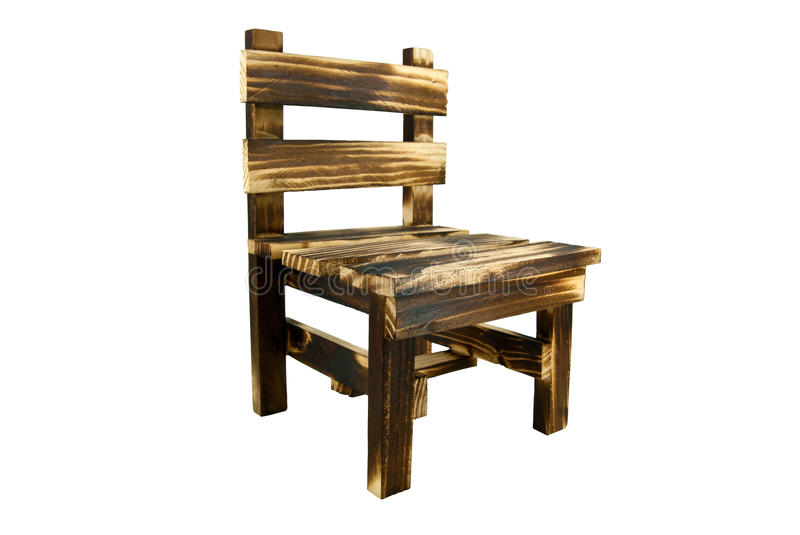 Wooden chair. Side view of wooden chair royalty free stock image
