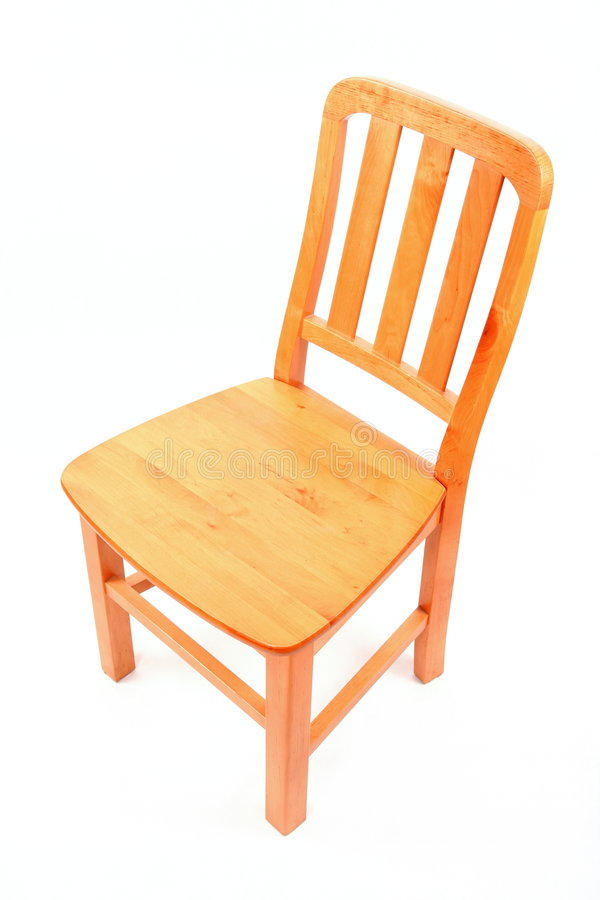 Download Wooden chair isolated stock photo. Image of nobody, white - 6583356