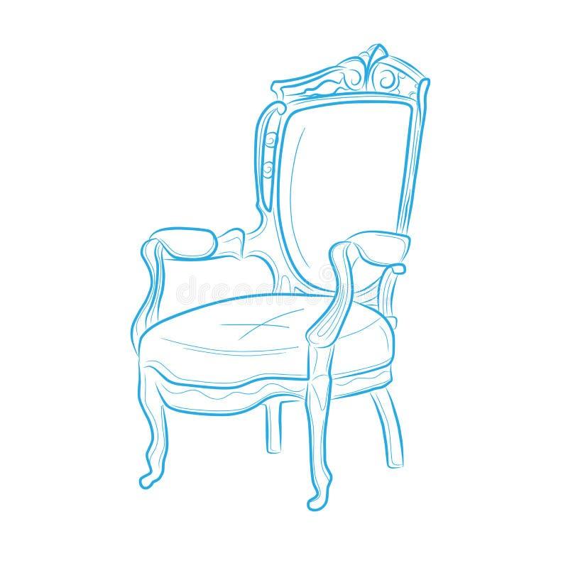 wooden chair stock illustration