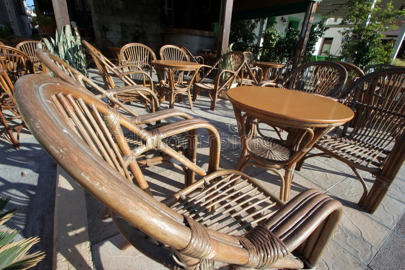 Wooden Chairs And Table Stock Image