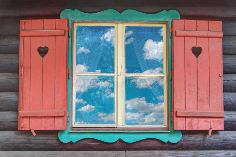 Download Wooden Chalet Window stock image. Image of architecture - 25920243