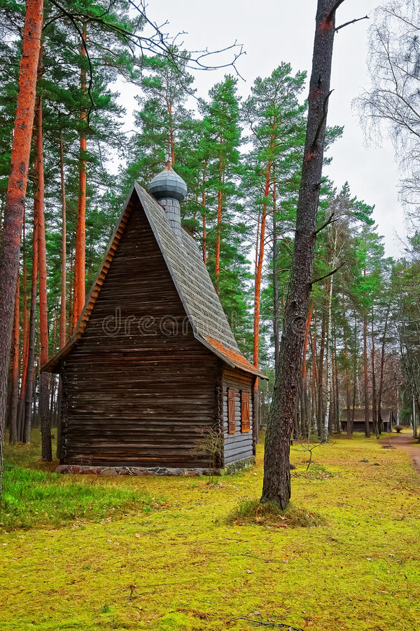 Wooden chapel in Ethnographic open air village Riga Baltic. Wooden chapel in Ethnographic open air village of Riga, Latvia, Baltic country stock images