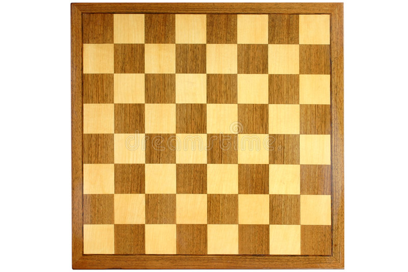 Wooden chess board royalty free stock photos