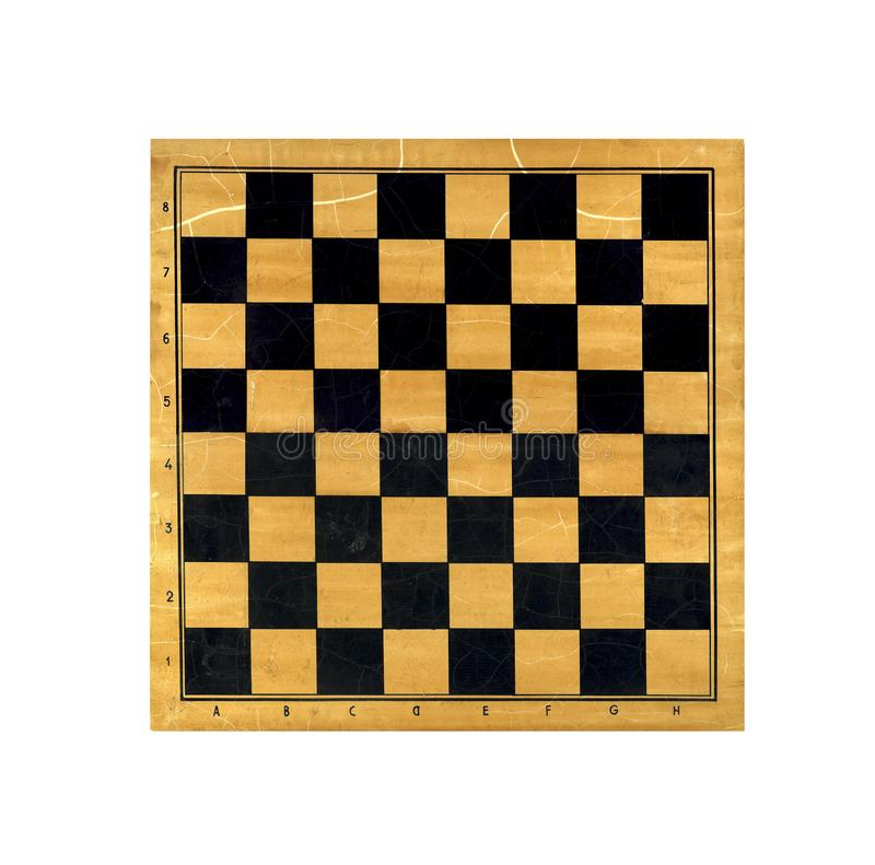 Wooden chess board isolated on white background royalty free stock photography