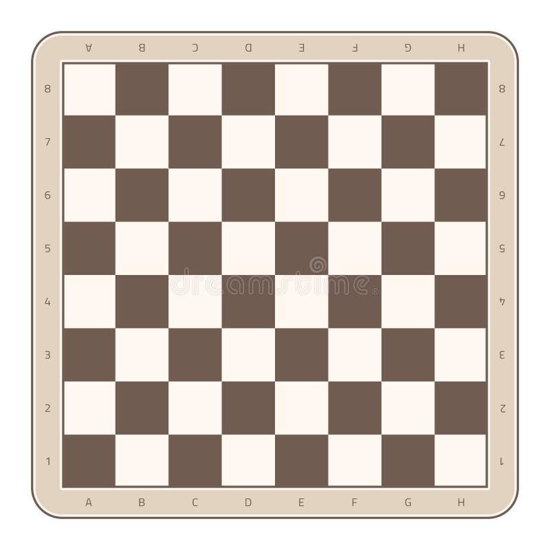 Wooden chess board. stock illustration