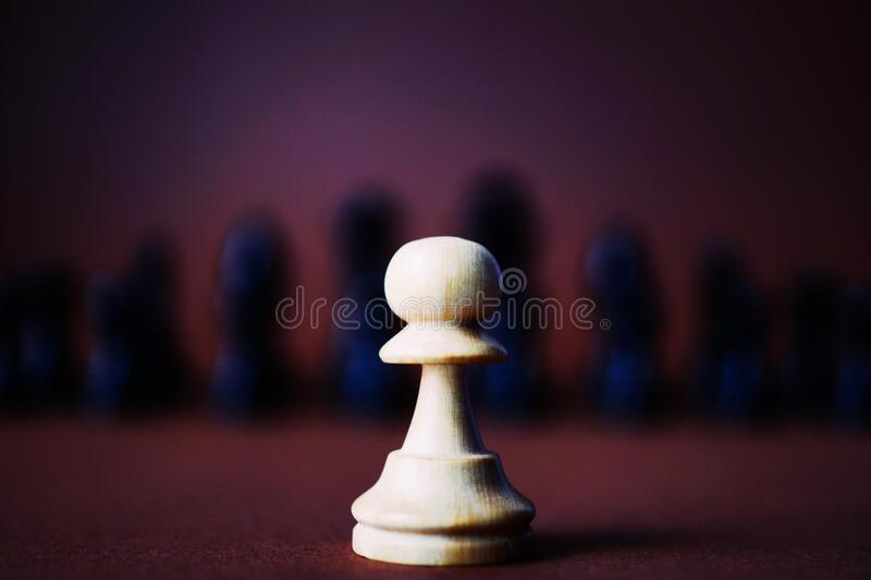 Wooden chess piece royalty free stock images