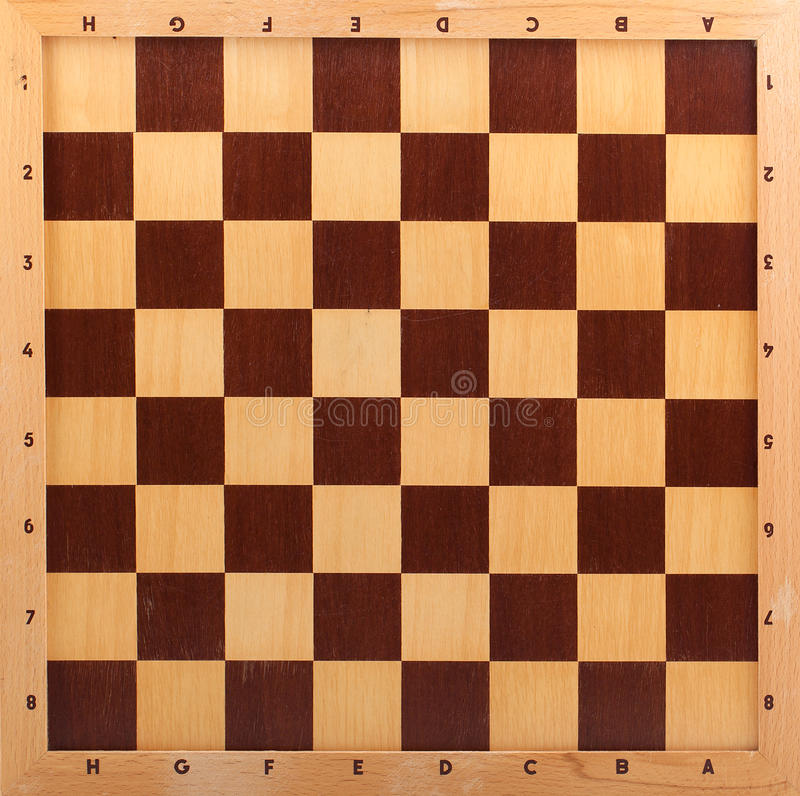 Wooden chessboard. Background, game texture stock image
