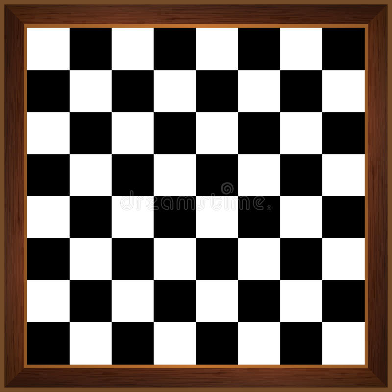 Wooden chessboard stock illustration