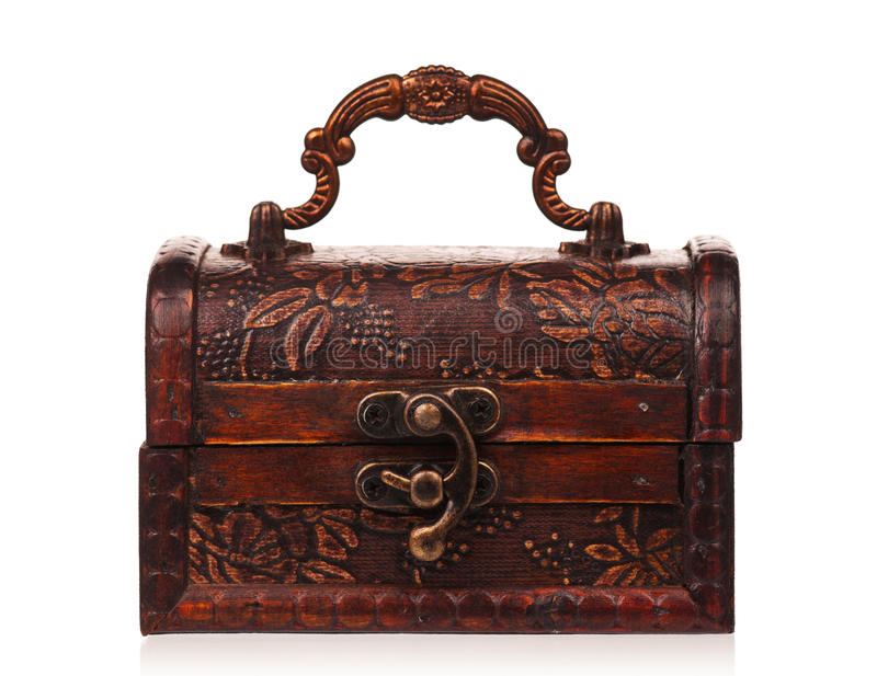 Download Wooden chest stock photo. Image of bronze, brown, close - 27635578