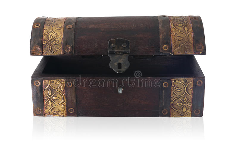 Download Wooden chest ajar stock image. Image of chest, path, antique - 17364305