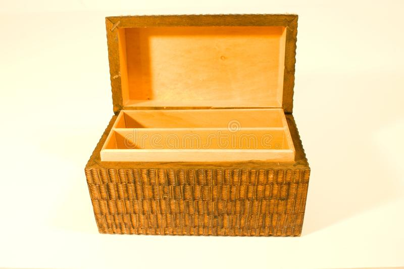 Wooden chests stock image