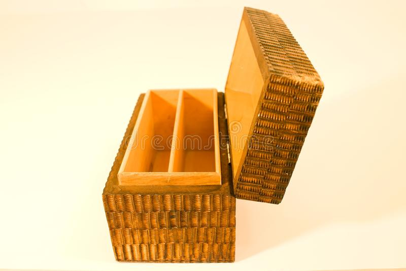 Wooden chests stock photo