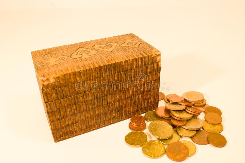 Wooden chests royalty free stock photography