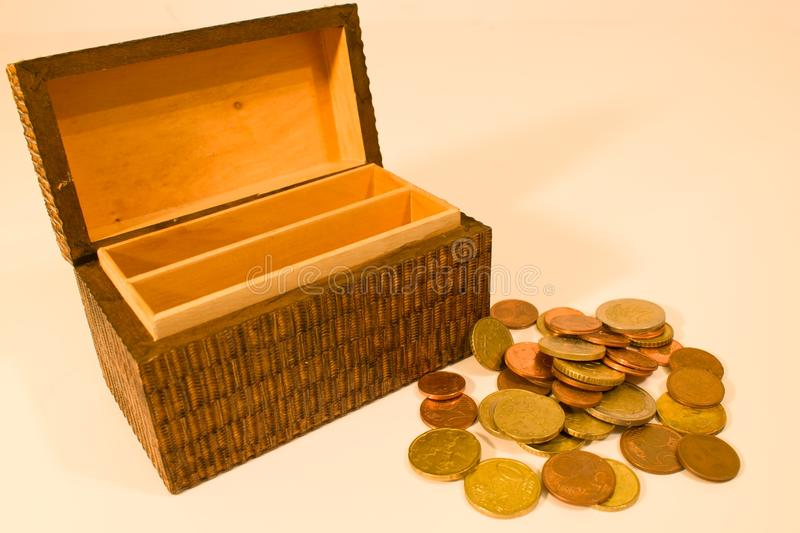 Wooden chests royalty free stock photos