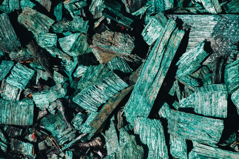 Wooden chips or scraps or wood bark as background royalty free stock photo
