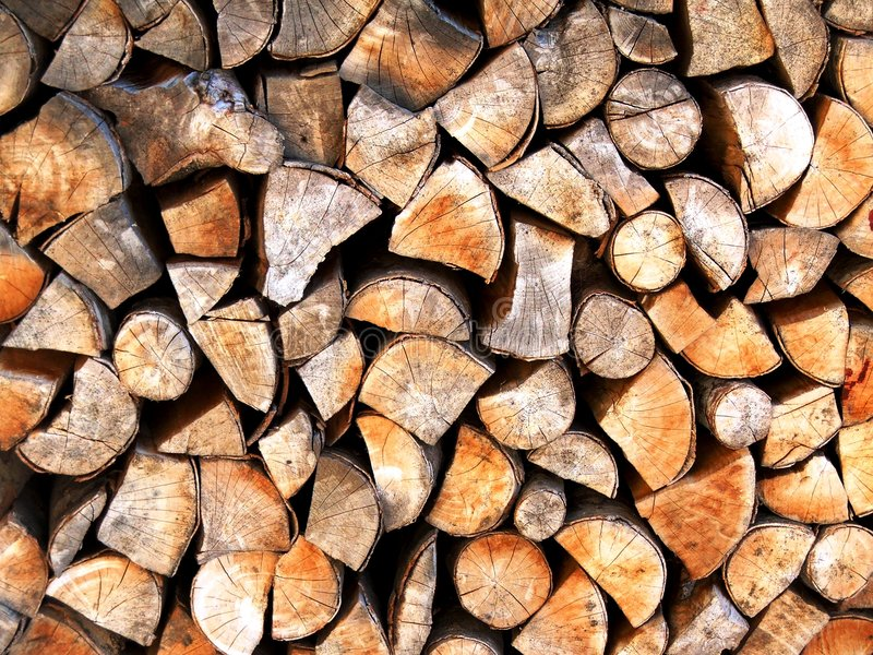 Wooden chops royalty free stock images