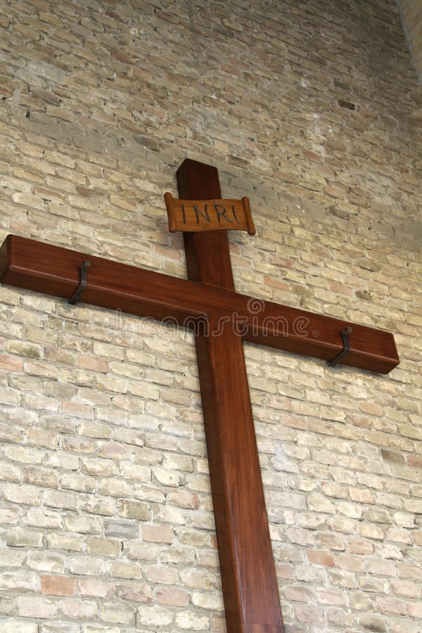 Download Wooden christian cross stock photo. Image of background - 32896966