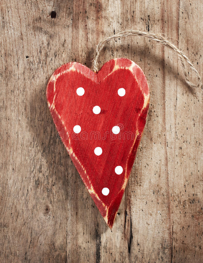 Wooden christmas decoration heart. Old wooden christmas decoration heart stock photos