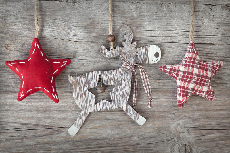Download Wooden christmas deer stock image. Image of celebration - 26944453