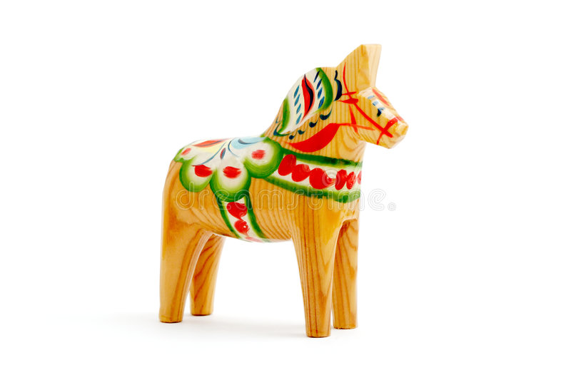 Wooden Christmas horse royalty free stock images