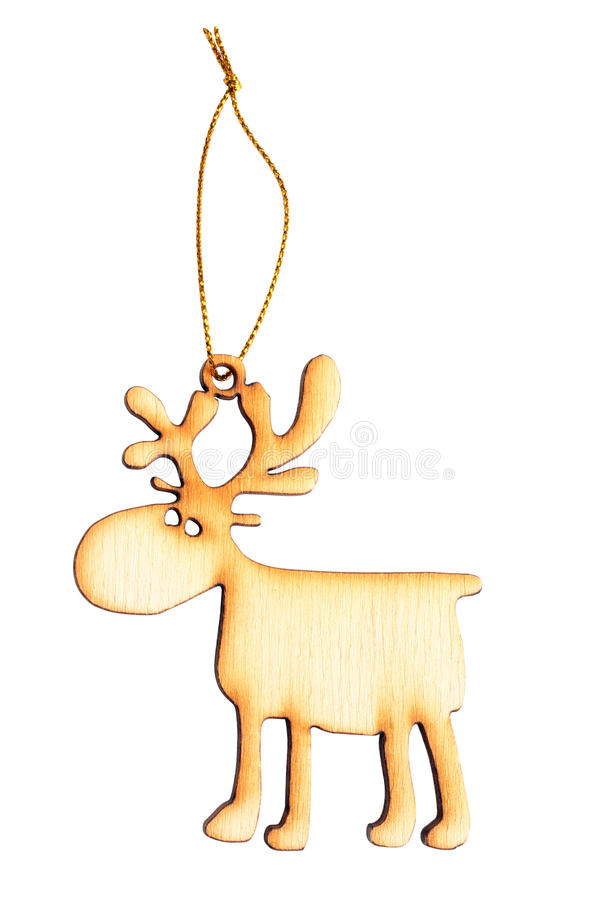 Wooden Christmas toy stock photography
