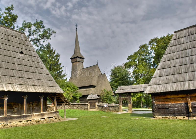 Wooden church royalty free stock photos