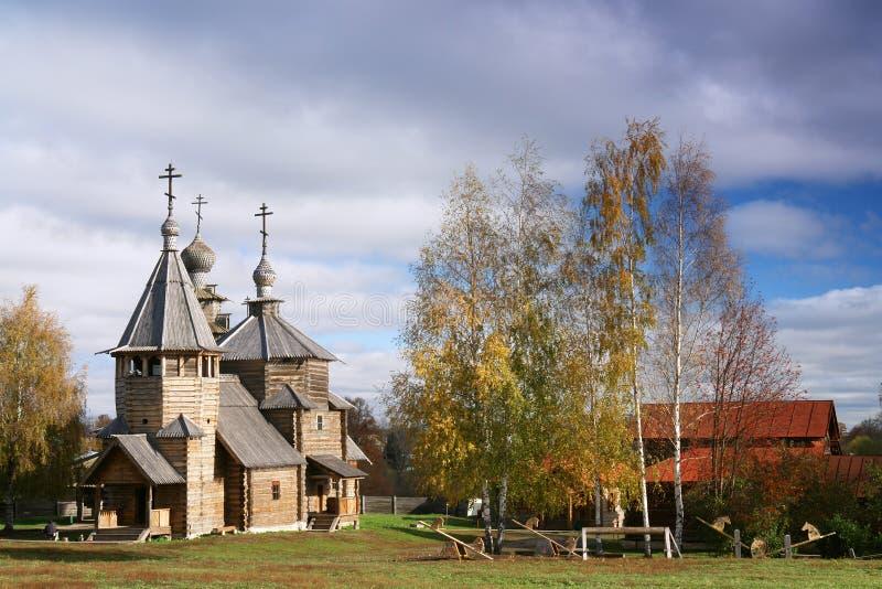 Wooden church of 18 century stock photo