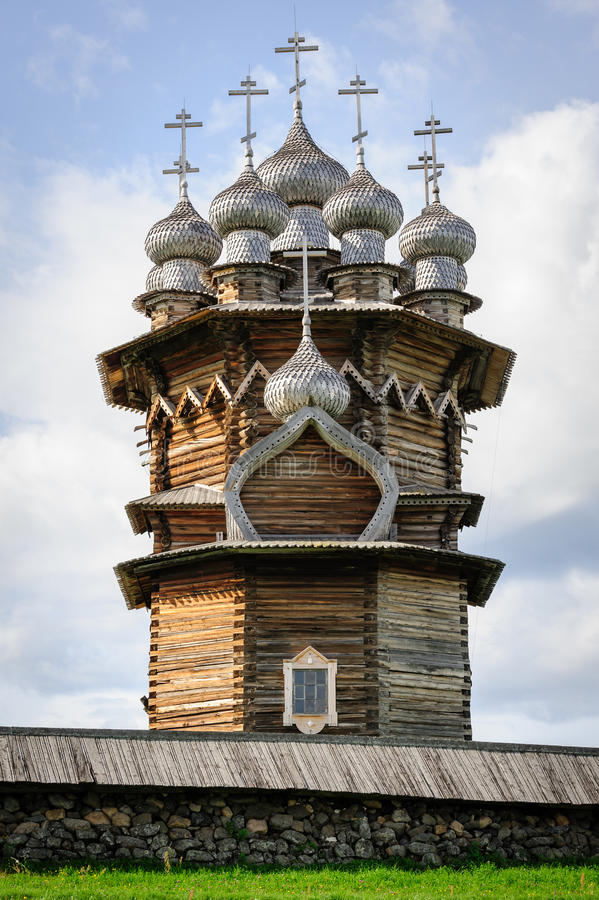 Free Wooden Church At Kizhi Under Reconstruction Royalty Free Stock Photography - 36184737