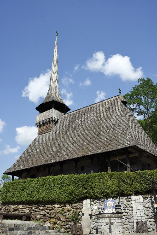 The wooden church in Gălpâia, Romania stock photos